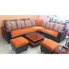 L shape furniture Sofas Teak Wood Designer Shape Sofa Set Indiamart Teak Wood Designer Shape Sofa Set Rs 24500 set Quality Sofa