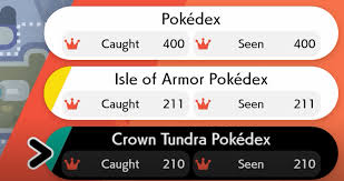 What happens when you complete The Crown Tundra Pokédex in Pokémon Sword  and Shield?