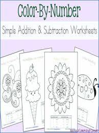 Basic Addition And Subtraction Worksheets For Kindergarten Free ...