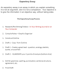 the expository essay process ppt  the expository essay process
