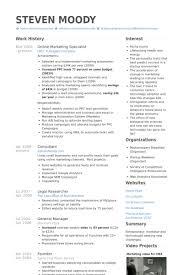 Online Marketing Specialist Resume samples