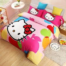 home textile hello kitty comforter set single twin queen king bedding sets kids girls bedroom sets bedroom queen sets kids twin