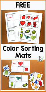 Just download, print and have fun. Learn Kindergarten Colors With Color Sorting Mats