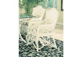 victorian wicker dining arm chair