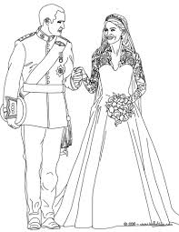 The Royal Wedding Coloring Pages Hellokidscom