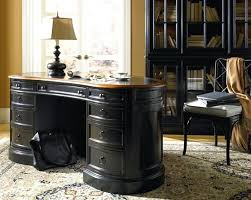 D  Stylish Luxury Home Office Design With Black Desk Brown Top  Pertaining To Elegant Vintage Furniture