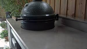 custom made concrete countertop for outdoor kitchen