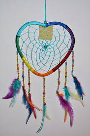 Purchase Dream Catchers Large Dream Catcher Rainbow Heart 100 Arts And Crafts UK 93