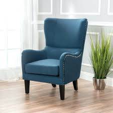 furniture tall wing chairs the best chair wing with ottoman blue armchair tall back accent image