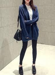 Womens Cardigan True Blue Ragg Yarn Cardigan