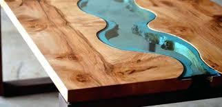 wood coffee table diy wood resin table