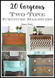 Two tone furniture painting French 20 Gorgeous Twotone Furniture Makeovers Pinterest Twotone Furniture Makeovers Furniture Makeover Chalk Paint And