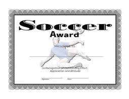 soccer awards templates certificate of achievement on soccer one certificate templates