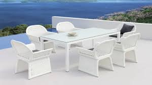wicker dining chair white outdoor