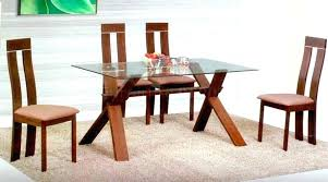 rectangle glass dining tables bases for top round table wood base