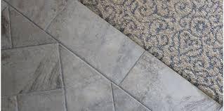 tile to carpet transition concrete floor marvelous carpet to tile transition ideas basement