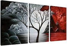 Wieco Art The Cloud Tree Wall Art Oil PaintingS ... - Amazon.com