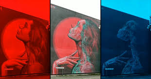 Double Exposure Murals That Show Multiple Artworks with 3D Glasses ...