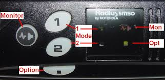 an overview of the motorola sm50 sm120 mobile radios solid green for receive idle flashing red for receive active and solid red for transmit the photo below show the sm50 all indicators identified