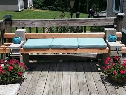 concrete block furniture ideas. cinder block and 4x4 bench looks like landscape timbers through the concrete furniture ideas