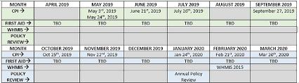 Staff Training Calendar Cla Lanark