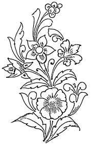 four diffe fl patterns arranged in a balanced slanting position is the unique feature of this free glass painting pattern