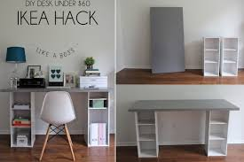 Office desk designs Glass Rpikeaofficedeskawesomediydeskdesignsyou Pinterest Ikea Office Desk Awesome Diy Desk Designs You Can Customize To Suit