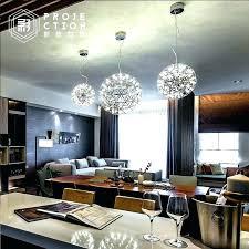 modern globe chandelier stainless steel star with led bulb living room light hall white chan