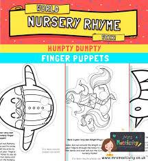Humpty Dumpty Finger Puppet Activity Mrs Mactivity