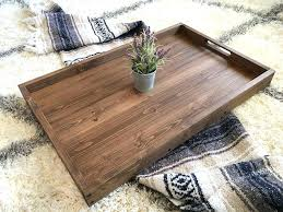 ottoman tray rustic wooden ottoman tray coffee table tray serving tray wooden tray rustic home decor