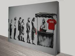 on cheap canvas wall art australia with banksy destroy capitalism canvas wall art australia