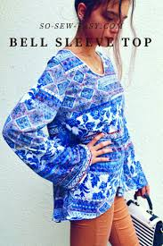 It's Sew Easy Patterns Beauteous How To Make A Bell Sleeve Top A Pattern Transformation Made Easy