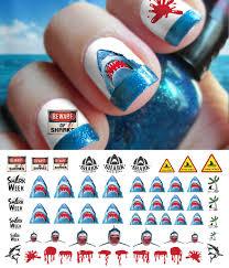 Amazon.com: Great White Shark Set #1 - WaterSlide Nail Art Decals ...