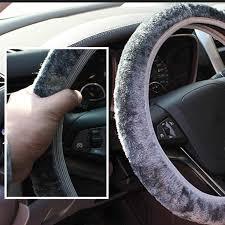 Universal 35 40cm Soft Warm <b>Car</b> Wheel Steering Cover Plush ...