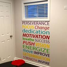 motivational wall decals for gym motivational quote wall decal office decor gym decor classroom decor inspirational  on motivational wall art for gym with wall decal the best motivational wall decals for gym custom gym
