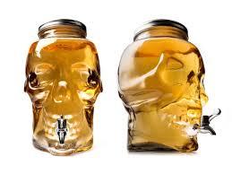 skull glass drink dispenser with spigot
