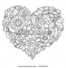 Small Picture Coloring book for adult and older children Coloring page with