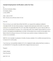 Verification Of Employment Letter Template Msdoti69