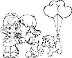 878x717 wedding coloring page free printable precious moments wedding