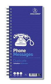 telephone message book challenge telephone message book wirebound carbonless 320 messages