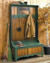 Hall Bench Coat Rack