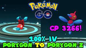 PERFECT IV MAX CP PORYGON-Z IN POKEMON GO - PORYGON TO PORYGON-Z - YouTube