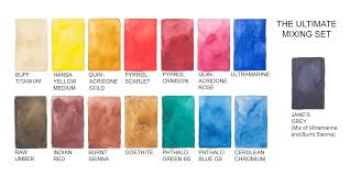 Artist Colour Mixing Chart The Ultimate Mixing Palette A World Of Colours Jane