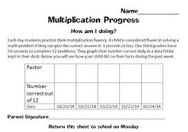 Printable Fluency Progress Chart Multiplication Fluency In Minutes A Day Scholastic