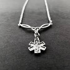 star of life necklace ems necklace emt