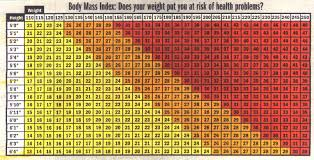 Body Mass Index Chart Calculating Your Body Mass Index