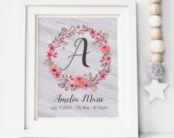 baby name wall art personalized baby name sign baby girl nursery wall decor rustic nursery name sign new baby girl gift name sign on personalized baby girl wall art with baby name wall art etsy