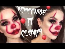 easy pennywise clown it halloween makeup tutorial rhiannonclaire