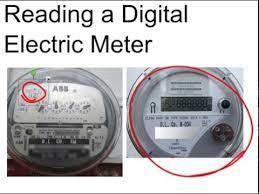 reading a digital electric meter