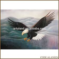 handmade hot flying eagle painting of hawk high altitude hunting for home decoration